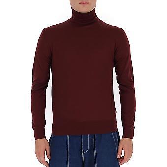 Prada Umr185c5wf0007 Männer's Burgund Wolle Pullover