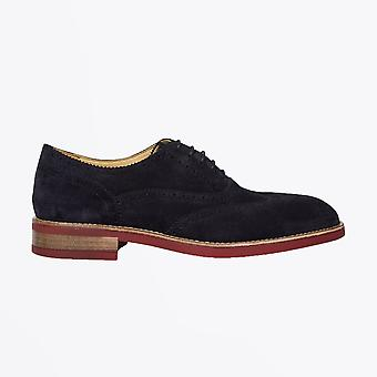Paul Smith  - Suede 'Fremont' Brogues - Navy