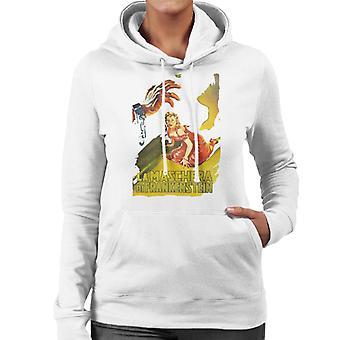 Hammer Horror films Frankenstein Elizabeth GASP vrouwen ' s Hooded Sweatshirt