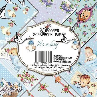 Decorer It's un boy 6x6 Inch Paper Pack