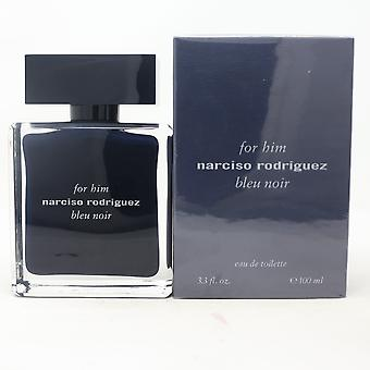 Bleu Noir For Him door Narciso Rodriguez Eau De Toilette 3.3oz Spray Nieuw met Doos