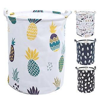 Large Laundry Basket With Drawstring Round For Dirty Clothes Toys - Folding Bucket Anti Dust Big Storage Bag