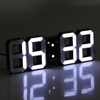 Digoo dc-k3 multi-function large 3d led digital wall clock alarm clock with snooze function (white)