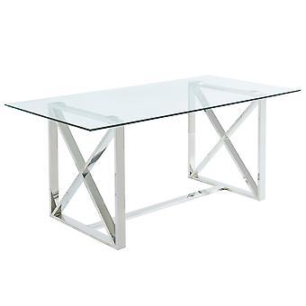 Finn Dining Table - Silver