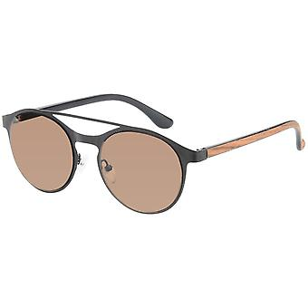 Gafas de sol Unisex Panto negro (A-Z17612)