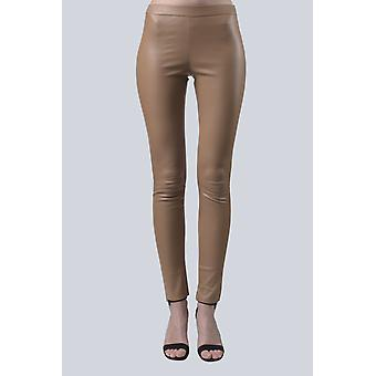 Camel Sam-rone Women's Leather Leggings