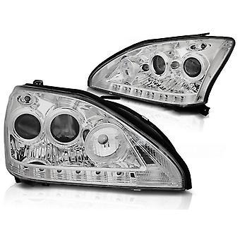 Reflektory z oświetleniem parkingowym LEXUS RX 330 / 350 03-08 CHROME