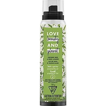 Love Beauty & Planet Coconut Milk and White Jasmine Light Hold and Frizz Control Hair Spray, 194 g