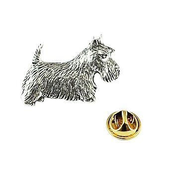 Ties Planet Scottish Terrier Cane Pewter Lapel Pin Badge