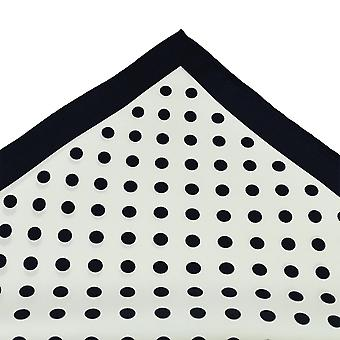 Bånd Planet Tresanti Navy Blå & Hvid Polka Dot Silk Pocket Square Lommetørklæde