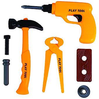 Operário de Construção Estabelece 7pcs. Carnival Kids Set Boys Tool Hammer Pliers