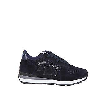Atlantic Stars Antarwwwwbt81 Männer's Blaue Leder Sneakers