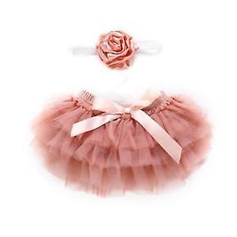 Vícevrstvá tutu krajková princezna sukně & květinová čelenka Outfit