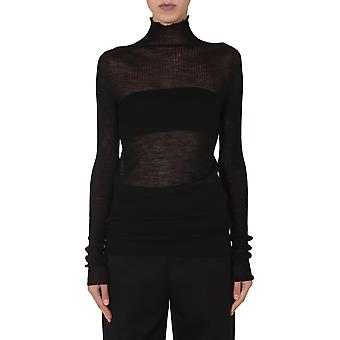 Jil Sander Jswr754309wry20108001 Women's Black Wool Sweater