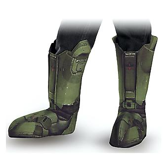 Master Chief Halo Army Video Games Book Week Adult Mens Traje Botas Cubiertas