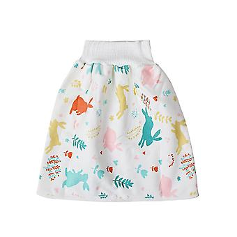 Cute Cartoon Baby Skirt Diapers, Washable Infants Cotton Training Pants,