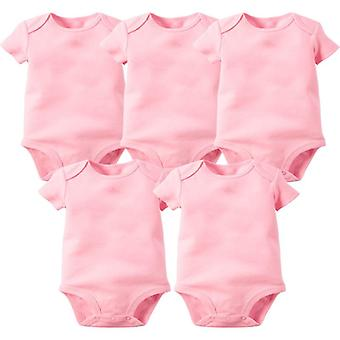 Newborn Baby Clothing Summer Sleeveless Boy Girl Clothes 100% Cotton White Kids Bodysuits & Jumpsuits