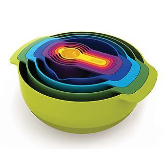 Joseph Joseph Nest 9 forberedelse skål sæt med måge ejer mix farve