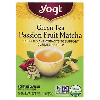 Yogi Green Tea Passion Frruit Matcha, 16 Bags