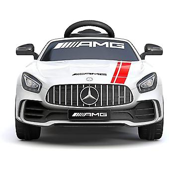 licensed Mercedes Benz gtr amg 6V 7A electric ride on car white with remote