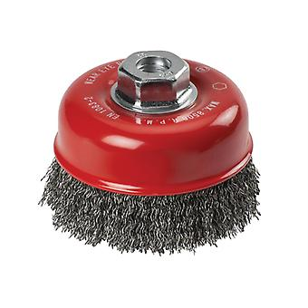 KWB Crimped Steel Cup Brush 100mm x M14 KWB719110