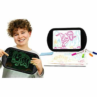 Doodle Kid's 15.4 pulgadas Magic LED Light Dinosaur Pictures Drawing Board