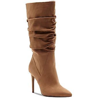 Jessica Simpson Womens lyndy Tecido apontado para o dedo do dedo do bezerro mid-bezerro botas de moda