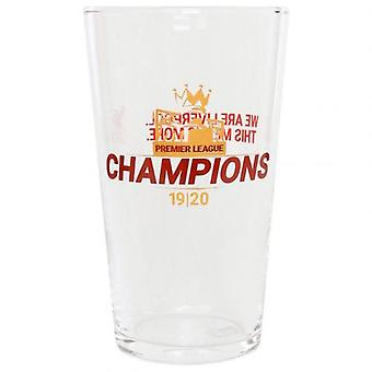 Liverpool Premier League Champions Large Glass