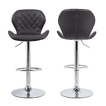 Set Of 2 Bar Stools Faux Leather Barstool Home Kitchen Swivel High Seat Chair