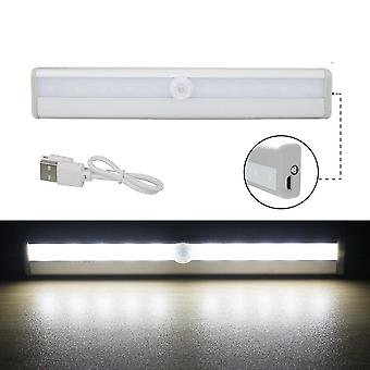 10 Leds Usb Rechargeable Wireless Under Cabinet Light With Motion Sensor