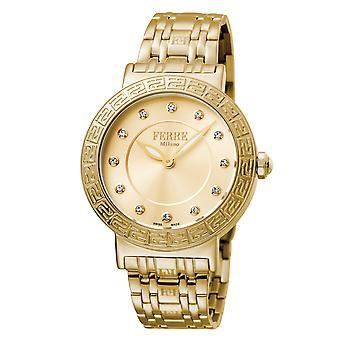 Ferre Milano FM1L041M0181 Naiset's Tummansininen Dial Stainle Steel Watch