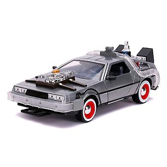 Back to the Future 3 Time Machine Raw Metal 1:24 Hwood Ride