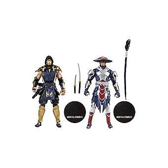 Mortal Kombat Scorpion & Raiden 2 Pack Action Figures