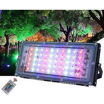 Rgb Outdoor Floodlight Ip65 Waterproof Reflector Led Spotlight With Remote