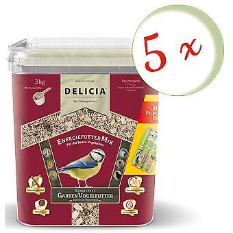 Sparset: 5 x FRUNOL DELICIA® Delicia® Energy FeedMix, 3 kg