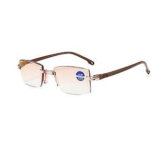 2020 Menn Kvinner Rimless Lesing Anti Blue Light Briller