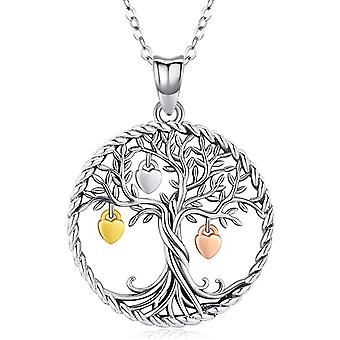 Tree of Life Necklace for Women Girls, 925 Sterling Silver Pendant Jewellery