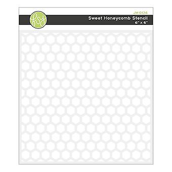 Fun Stampers Journey Sweet Honeycomb Pochoir