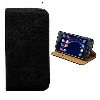 Colorfone Huawei Honor 8 Brieftasche Fall (Schwarz)