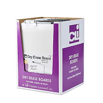 Dry Erase Boards, Encadré avec marqueurs & gomme, blanc, pack de 12