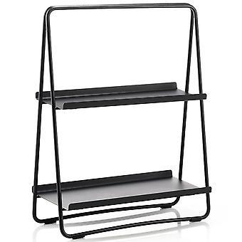 Zone Shelf A-Table black shelf in steel H 58 cm