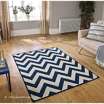 Chevron de moda azul alfombra