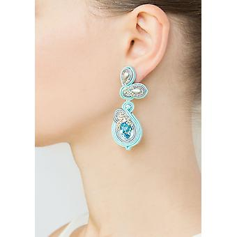 Floral Design With Swarovski Stones Earring