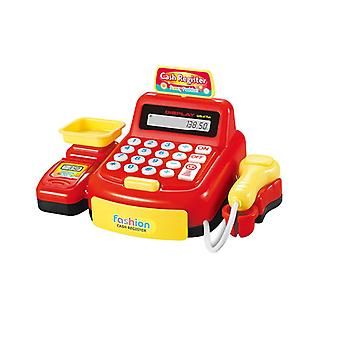 Simulation Cash Register Shopping Cashier Role Play Game Set Abs Kids Play