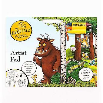 Virallinen Gruffalo Artist Pad Peli Väri Väritys Kirja Tarra Hauska Lukitus Karanteeni Palapeli