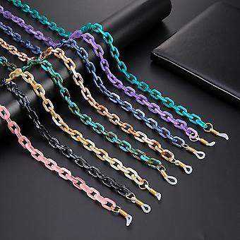Cadena de gafas de acrílico, máscara cadenas correas de cordón cuerda 3pcs