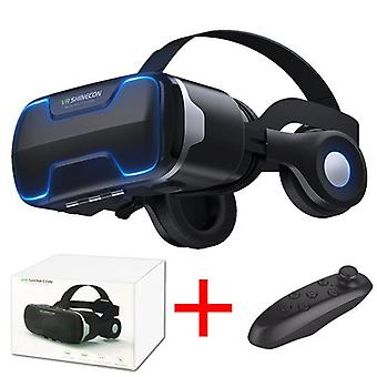 G02ed vr shinecon 8.0 طبعة قياسية وسماعة رأس الإصدار الواقع الافتراضي 3d vr نظارات خوذات سماعة الرأس اختياري controlle