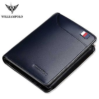 Real Leather Wallet, Small Card Bag, Men Short Slim Cowskin, Luxury Design,