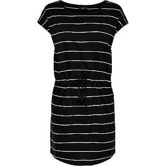 Alleen Womens May Life Sort Mini Dress Korte Mouw Beat Neck Tie Taille