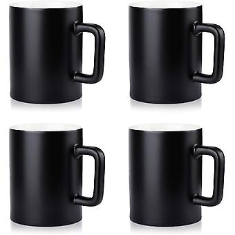 DZK Ceramic Mug Set of 4 Smooth Frosted Porcelain Mug, Coffee Mugs, Tea Cup, for Office and Home,